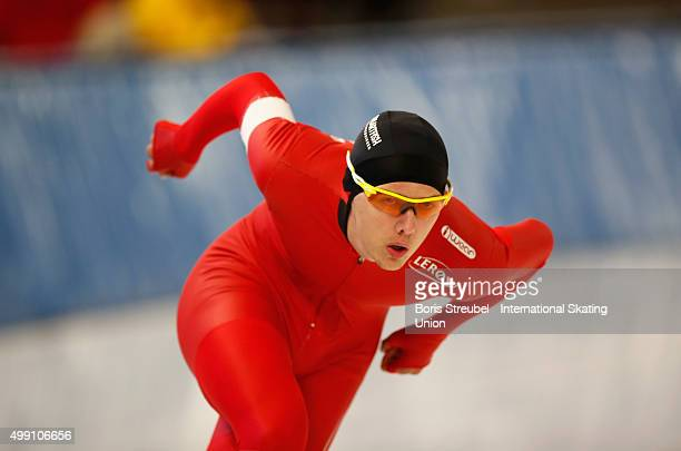 Allan Dahl Johansson of Norway competes in the men's 3000m race during day one of the ISU Junior World Cup Speed Skating at Sportforum...