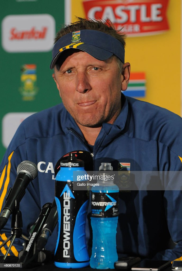 <a gi-track='captionPersonalityLinkClicked' href=/galleries/search?phrase=Allan+Donald&family=editorial&specificpeople=2185652 ng-click='$event.stopPropagation()'>Allan Donald</a> during day 3 of the 2nd Test match between South Africa and West Indies at St. Georges Park on December 28, 2014 in Port Elizabeth, South Africa.