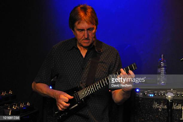 Allan Holdsworth performs on stage at Ronnie Scott's Jazz Club on June 4 2010 in London England