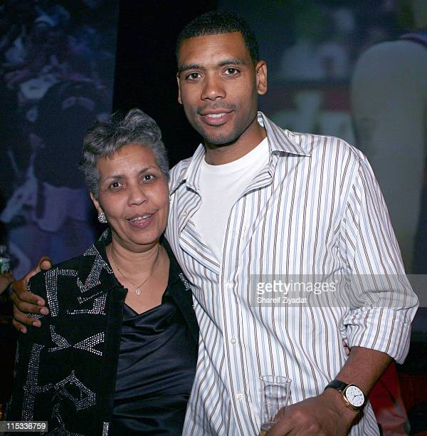 Allan Houston and guest during Allen Houston Retirement Party at Supper Club in New York City New York United States