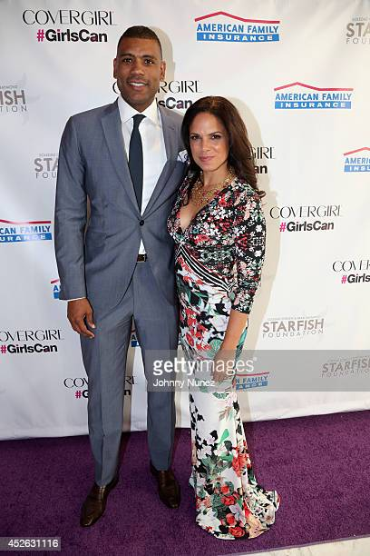 Allan Houston and Soledad O'Brien attend Soledad O'Brien Brad Raymond Starfish Foundation 4th Annual New Orleans To New York City Gala at Espace on...