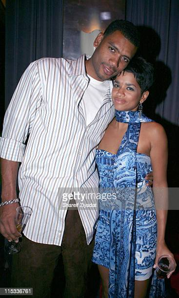 Allan Houston and Tammy Houston during Allen Houston Retirement Party at Supper Club in New York City New York United States