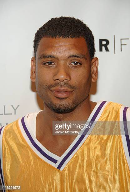 Allan Houston during NeYo Laces Up His Hightops in Charity Basketball Shootout at Madison Square Garden in New York City New York United States