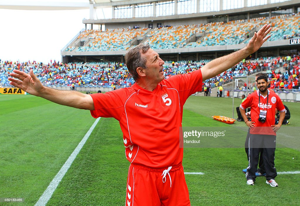 Allan Kennedy during the Legends match between Liverpool FC Legends and Kaizer Chiefs Legends at Moses Mabhida Stadium on November 16, 2013 in Durban, South Africa.