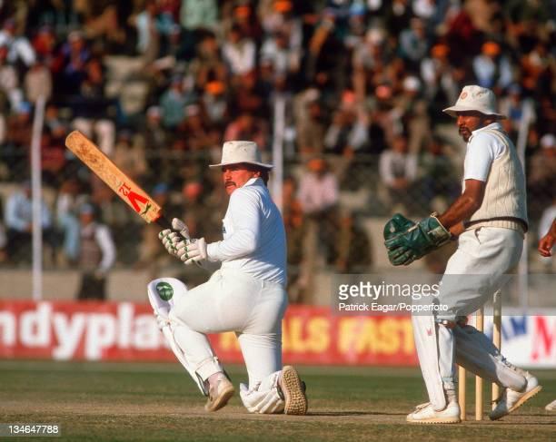 Allan Lamb India v England 2nd Test Delhi Dec 84