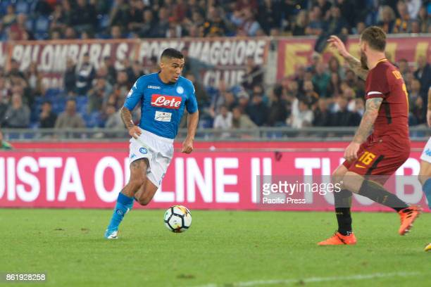 Allan Marques Loureiro during the Italian Serie A football match between AS Roma and SSC Napoli at the Olympic Stadium in Rome on october 14 2017