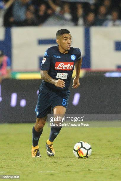 Allan Marques of SSC Napoli in action during the Serie A match between Spal and SSC Napoli at Stadio Paolo Mazza on September 23 2017 in Ferrara Italy