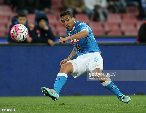 Allan of Napoli during the Serie A match between SSC Napoli and AC Chievo Verona at Stadio San Paolo on March 5 2016 in Naples Italy