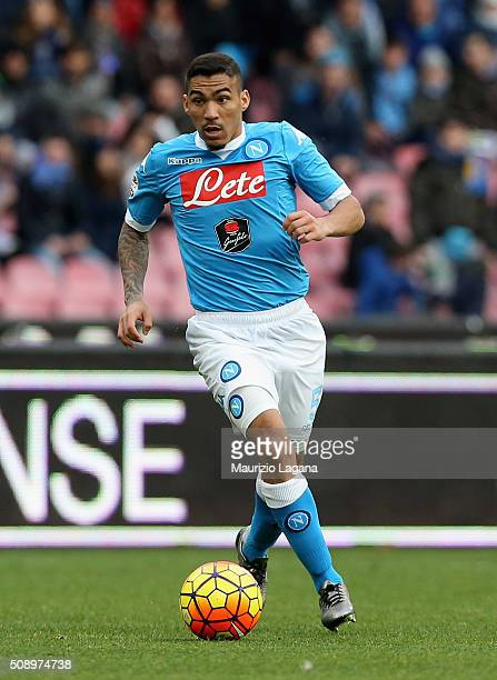Allan of Napoli during the Serie A match between SSC Napoli and Carpi FC at Stadio San Paolo on February 7 2016 in Naples Italy
