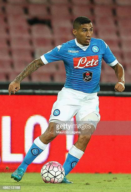 Allan of Napoli during the Serie A match between SSC Napoli and UC Sampdoria at Stadio San Paolo on August 30 2015 in Naples Italy