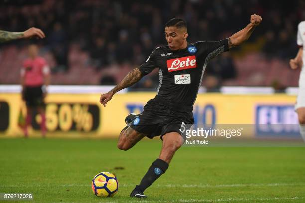 Allan of SSC Napoli during the Serie A TIM match between SSC Napoli and AC Milan at Stadio San Paolo Naples Italy on 18 November 2017