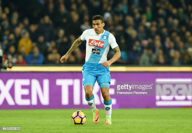 Allan of SSC Napoli in action during the Serie A match between SSC Napoli and Genoa CFC at Stadio San Paolo on February 10 2017 in Naples Italy