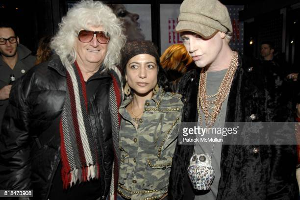 Allan Pollack Ivy Supersonic and Richie Rich attend SUSANNE BARTCH and DAVID BARTON host the Launch of REEM at David Barton Gym on January 22 2010 in...