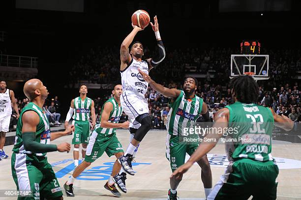 Allan Ray of Granarolo competes with Oderah Anosike of Sidigas during the LegaBasket serie A1 match between Virtus Granarolo Bologna and Sidigas...