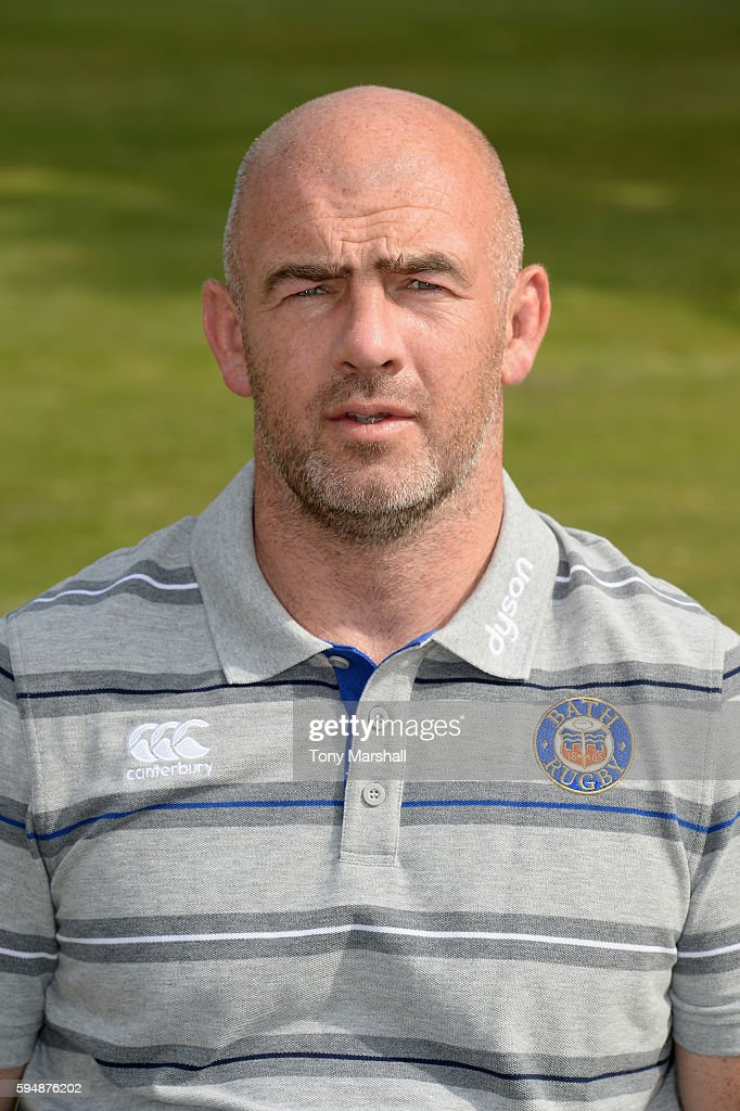 Allan Ryan High Performance Manager poses for a portrait during the Bath Rugby squad photo call for the 20162017 Aviva Premiership Rugby season on...