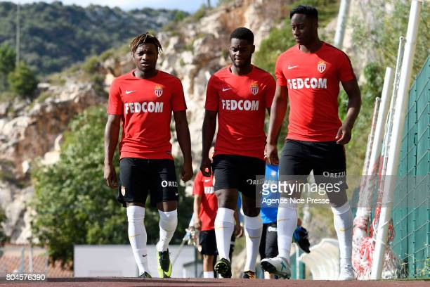 Allan Saint Maximin Jordy Gaspar and Soualiho Meite of Monaco during training session of As Monaco on June 30 2017 in Monaco Monaco