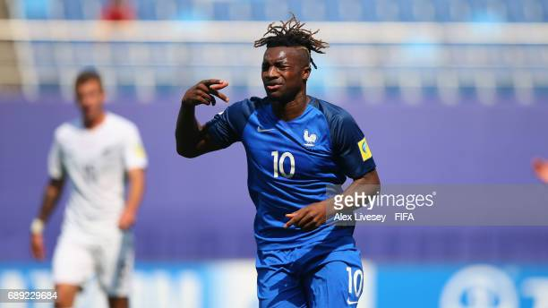 Allan SaintMaximin of France celebrates after scoring the opening goal during the FIFA U20 World Cup Korea Republic 2017 group E match between New...