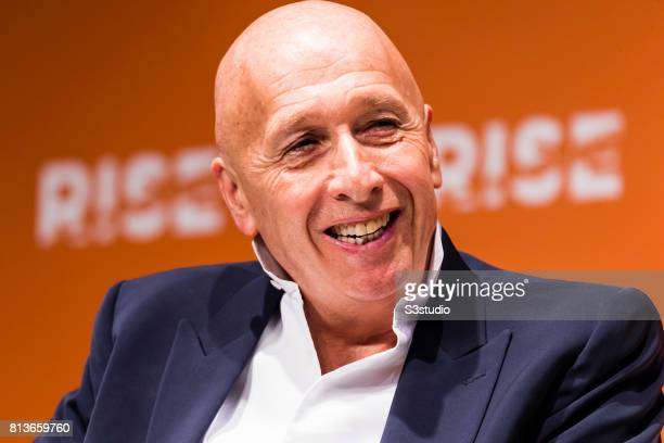 Allan Zeman chairman of Lan Kwai Fong Group attends the Day 3 of the RISE Conference 2017 at the Hong Kong Convention and Exhibition Centre on July...