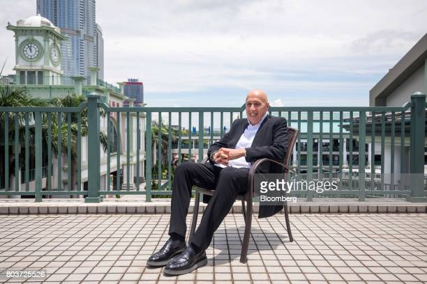 Allan Zeman chairman of Lan Kwai Fong Holdings Ltd poses for a photograph after a Bloomberg Television interview in Hong Kong China on Friday June 30...