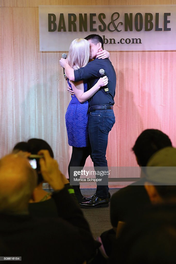 'Allegiance' cast members Katie Rose Clarke (L) and <a gi-track='captionPersonalityLinkClicked' href=/galleries/search?phrase=Telly+Leung&family=editorial&specificpeople=706226 ng-click='$event.stopPropagation()'>Telly Leung</a> promote the original Broadway cast recording of 'Allegiance' at at Barnes & Noble, 86th & Lexington on February 5, 2016 in New York City.