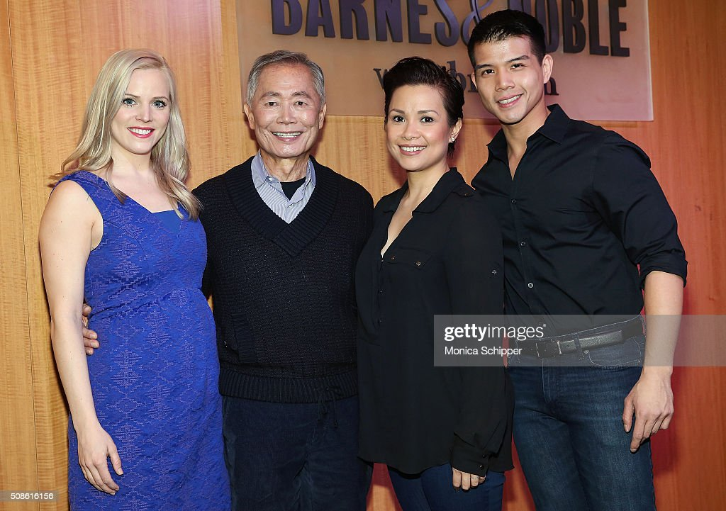 'Allegiance' cast members Katie Rose Clarke, <a gi-track='captionPersonalityLinkClicked' href=/galleries/search?phrase=George+Takei&family=editorial&specificpeople=1534988 ng-click='$event.stopPropagation()'>George Takei</a>, <a gi-track='captionPersonalityLinkClicked' href=/galleries/search?phrase=Lea+Salonga&family=editorial&specificpeople=2179610 ng-click='$event.stopPropagation()'>Lea Salonga</a> and <a gi-track='captionPersonalityLinkClicked' href=/galleries/search?phrase=Telly+Leung&family=editorial&specificpeople=706226 ng-click='$event.stopPropagation()'>Telly Leung</a> promote the original Broadway cast recording of 'Allegiance' at at Barnes & Noble, 86th & Lexington on February 5, 2016 in New York City.