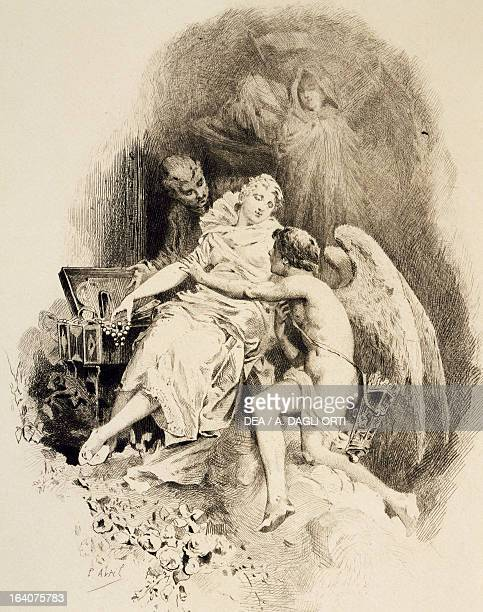 Allegorical illustration for Manon by Jules Massenet Bologna Civico Museo Bibliografico Musicale