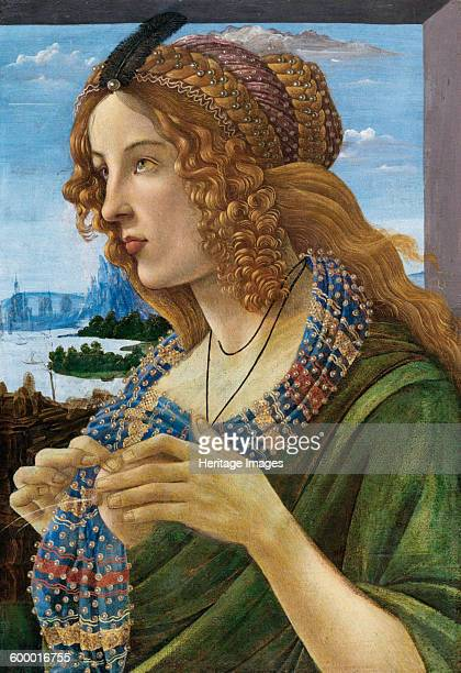 Allegorical Portrait of a Woman 14801490 Private Collection Artist Botticelli Sandro