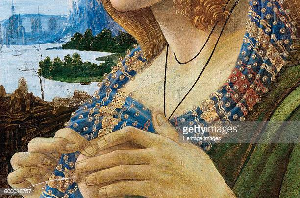 Allegorical Portrait of a Woman Detail 14801490 Private Collection Artist Botticelli Sandro