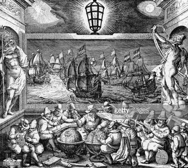 Allegorical presentation of Dutch Seamanship 18th century