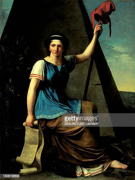 Allegory of Liberty painting by Nanine Vallain 17931794 French Revolution France 18th century