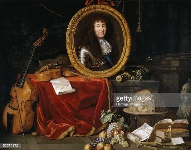 Allegory of Louis XIV Protector of Arts and Sciences Found in the collection of Musée de l'Histoire de France Château de Versailles