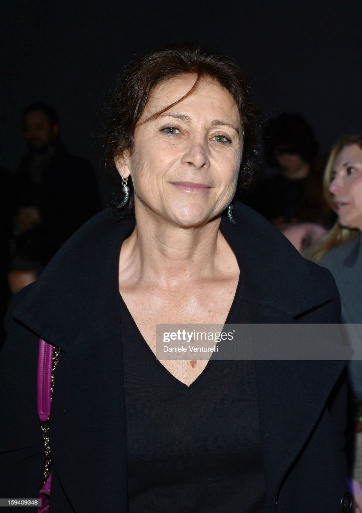 Allegra Bossi Pucci attends the Salvatore Ferragamo show as a part of Milan Fashion Week Menswear Autumn/Winter 2013 on January 13, 2013 in Milan, Italy.
