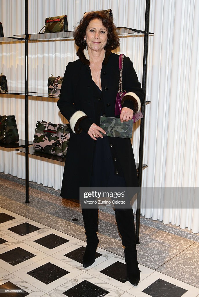 Allegra Bossi Pucci attends Valentino Cocktail Party as part of Milan Fashion Week Menswear Autumn/Winter 2013 on January 12, 2013 in Milan, Italy.