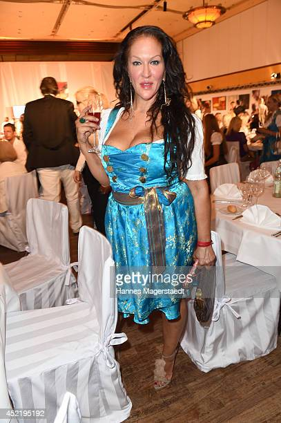 Allegra Camilla Curtis attends the Sixt ladies dirndl dinner on July 15 2014 in Munich Germany