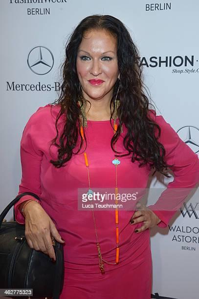 Allegra Curtis attends the Minx by Eva Lutz show during MercedesBenz Fashion Week Autumn/Winter 2014/15 at Brandenburg Gate on January 15 2014 in...