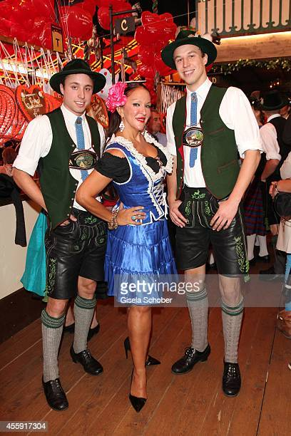 Allegra Curtis attends the 'Sixt Damen Wiesn' at Marstall tent during Oktoberfest at Theresienwiese on September 22 2014 in Munich Germany