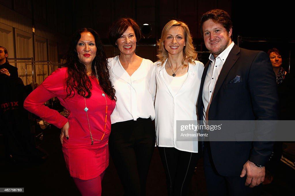 Allegra Curtis designer Eva Lutz Inge Steiner and Matthias Steiner attend the Minx by Eva Lutz show during MercedesBenz Fashion Week Autumn/Winter...