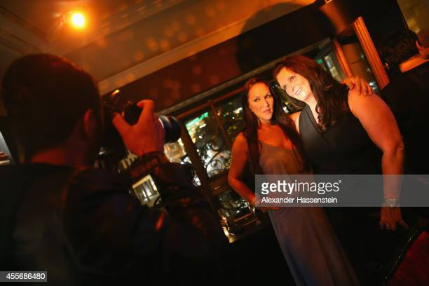 Allegra Curtis poses for pictures during the Getty Images Hearts You event at Heart on September 18 2014 in Munich Germany
