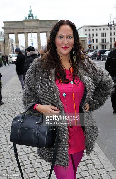 Allegra Curtis sighting during MercedesBenz Fashion Week Autumn/Winter 2014/15 at Brandenburg Gate on January 15 2014 in Berlin Germany