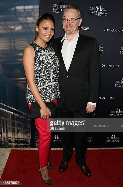 Allegra Riggio and Jared Harris attend the Battersea Power Station Global Launch Party in Los Angeles at The London Hotel on November 6 2014 in West...