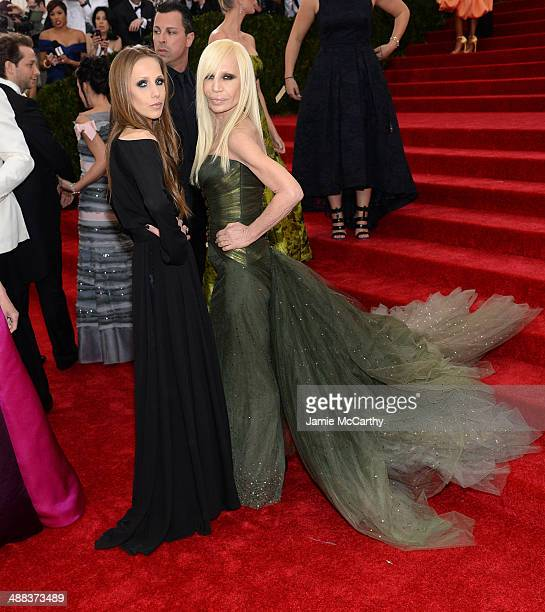 Allegra Versace and Donatella Versace attends the 'Charles James Beyond Fashion' Costume Institute Gala at the Metropolitan Museum of Art on May 5...