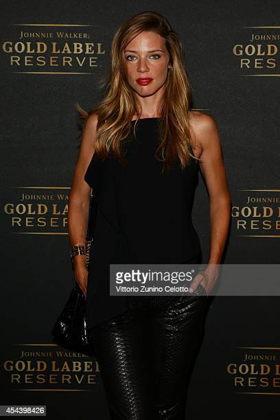 Allegra Versace attended JOHNNIE WALKER GOLD LABEL RESERVE and Vanity Fair's glamourous event during the Venice Film Festival The gold event revealed...