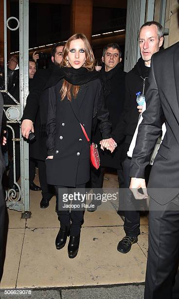Allegra Versace attends at the Versace fashion show as part of Paris Fashion Week Haute Couture Spring/Summer 2016 on January 24 2016 in Paris France