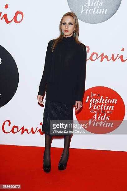 Allegra Versace attends Convivio 2016 photocall on June 7 2016 in Milan Italy
