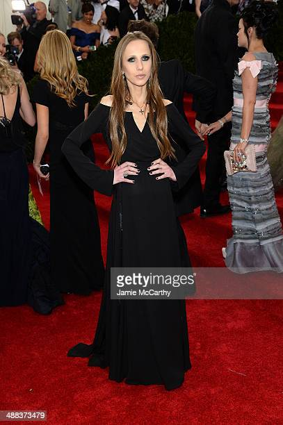 Allegra Versace attends the 'Charles James Beyond Fashion' Costume Institute Gala at the Metropolitan Museum of Art on May 5 2014 in New York City