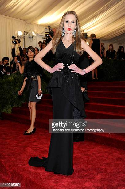Allegra Versace attends the 'Schiaparelli And Prada Impossible Conversations' Costume Institute Gala at the Metropolitan Museum of Art on May 7 2012...
