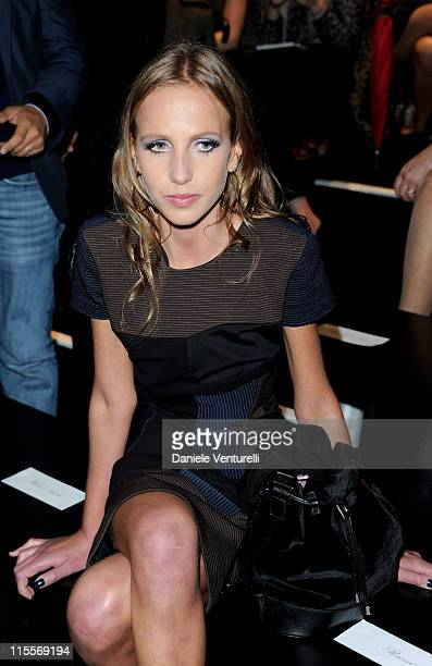 Allegra Versace attends the Versace Womenswear S/S 2011 show during Milan Fashion Week on September 24 2010 in Milan Italy