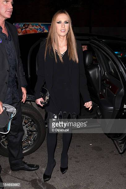 Allegra Versace is seen arriving at The Waldorf Towers on October 24 2012 in New York City