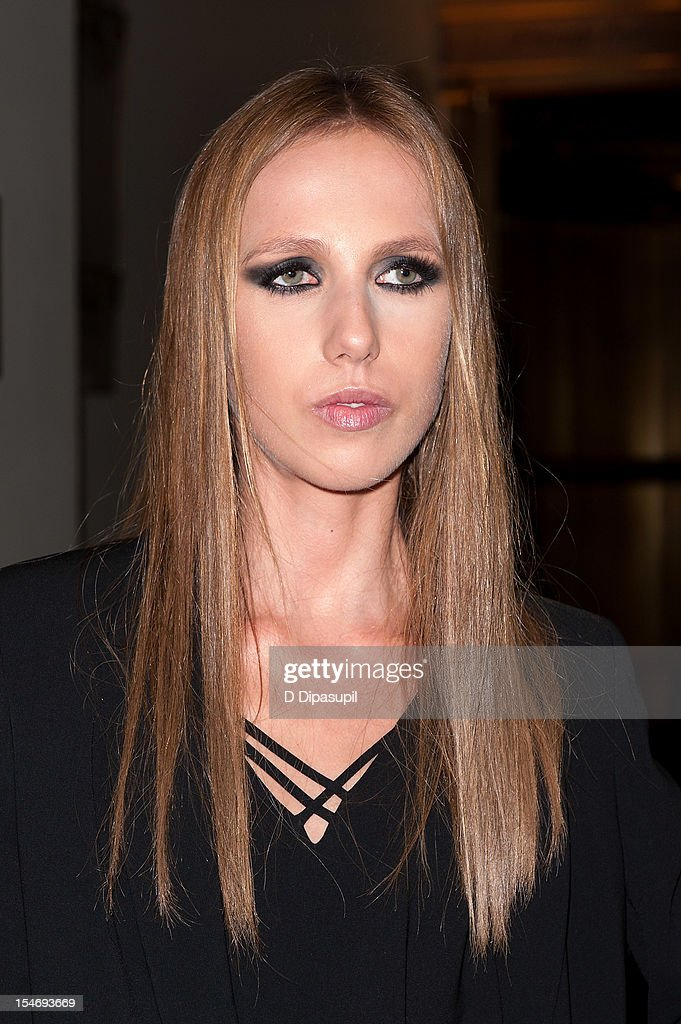 Allegra Versace is seen arriving at The Waldorf Towers on October 24, 2012 in New York City.