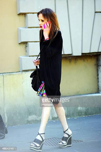 Allegra Versace is seen on May 14 2014 in Milan Italy